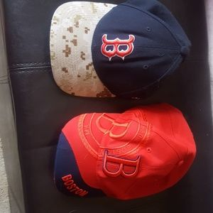 Fathers day gift Red sox hats NWOT